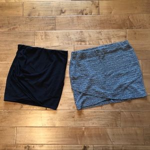 H&M + Lot of 2 Stretchy Skirts.  Size Large